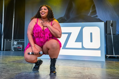 DETROIT, MICHIGAN - JULY 27: Lizzo performs on Day 1 of MoPop Festival 2019 at West Riverfront Park on July 27, 2019 in Detroit, Michigan. (Photo by Scott Legato/Getty Images)