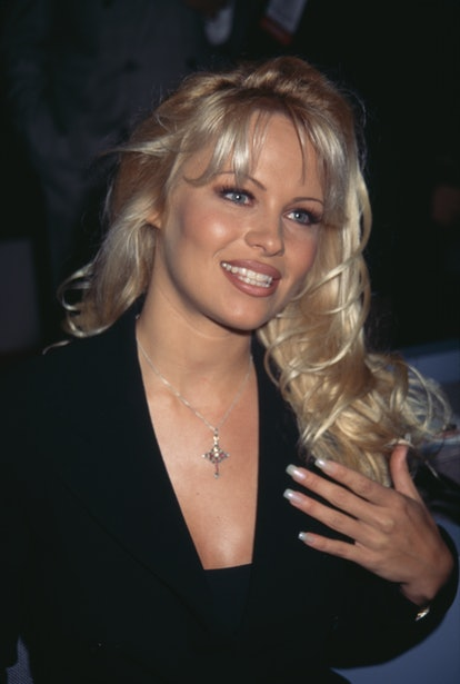 Canadian actress Pamela Anderson attend the 32nd Annual National Association of Television Program Executives (NATPE) Convention and Exhibition, held at the Sands Expo Center in Las Vegas, Nevada, 24th January 1995. (Photo by Vinnie Zuffante/Michael Ochs Archives/Getty Images)