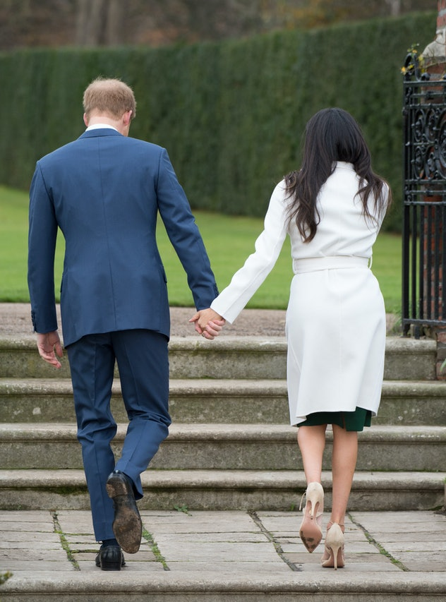 Prince Harry and Meghan Markle at their engagement photo session 2017.