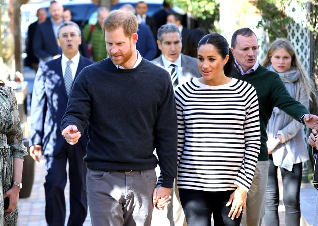 Prince Harry and Meghan Markle in Morocco, 2019.