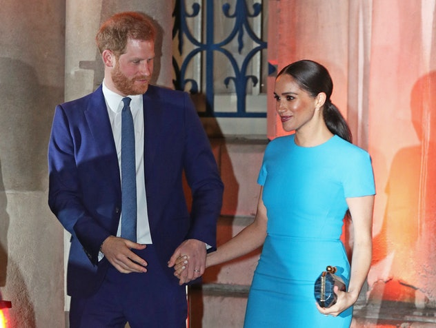 The Duke and Duchess of Sussex in March 2020.