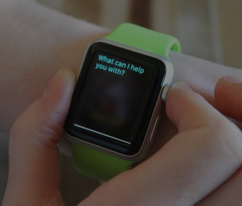 Apple Watch on a person's arm.