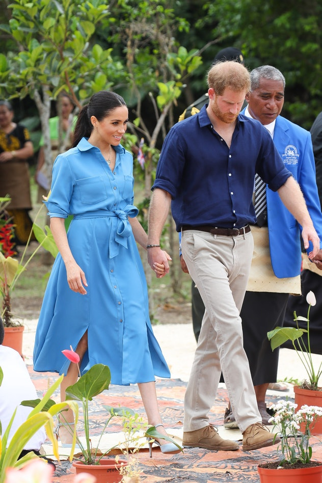 The Duke and Duchess of Sussex in Tonga, 2018.