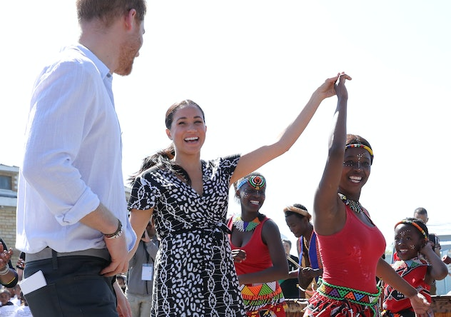 Prince Harry and Meghan Markle in South Africa 2019.