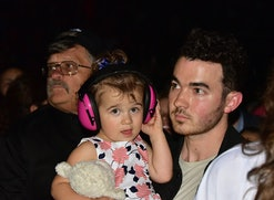 Kevin Jonas' two daughters pretended to be the Jonas Brothers in a hilarious video posted to Instagram.