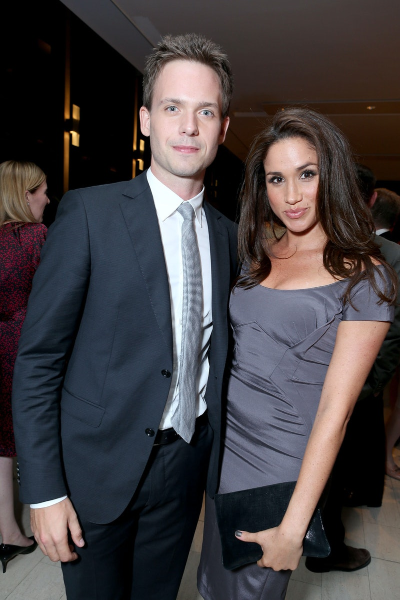 Patrick J. Adams and Meghan Markle at a 2012 'Suits' event. Photo via Getty