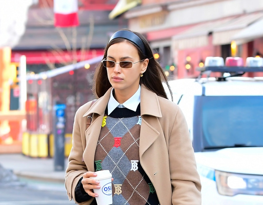 Irina Shayk is seen walking in soho on February 24, 2021 in New York City.