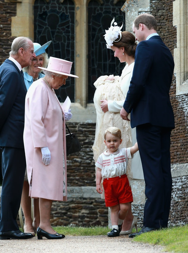 Prince Philip with his great-grandchildren in 2015.