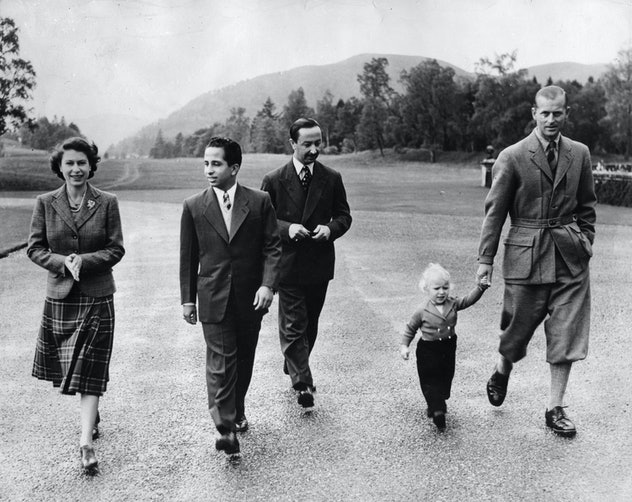 Prince Philip with Princess Anne, 1952.