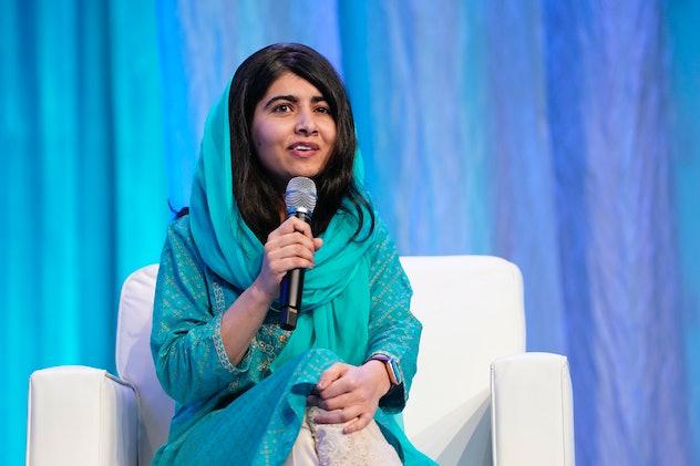 Malala Yousafzai speaking