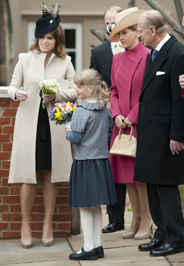 Prince Philip with his granddaughters.