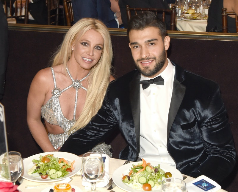 Britney Spears and boyfriend Sam Asghari at the 2018 GLAAD Media Awards in Beverly Hills, California