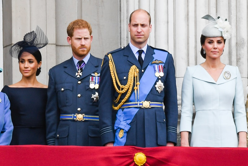 Meghan Markle, Prince Harry, Prince William, and Kate Middleton at a royal event in 2019. Photo via Getty
