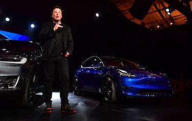 Elon Musk Tesla Jordan sneakers.