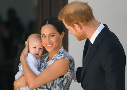 Meghan, Harry, and Archie. Photo via Getty Images