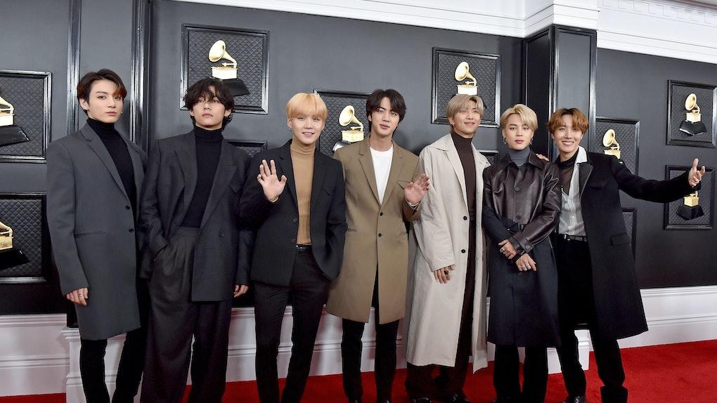 BTS at the Grammys