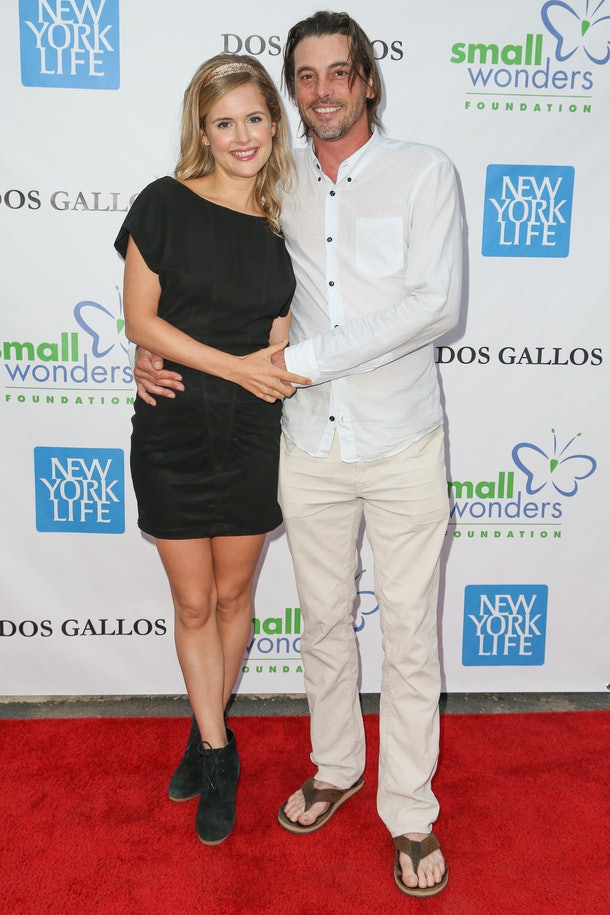 """LOS ANGELES, CA - JUNE 06:  Actors Amelia Jackson-Gray (L) and husband Skeet Ulrich attend """"A Night of Wonders"""" at Dos Gallos Antiques on June 6, 2013 in Los Angeles, California.  (Photo by Chelsea Lauren/WireImage)"""