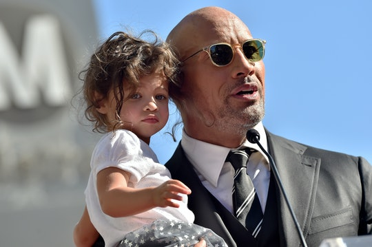 Dwayne Johnson taught his daughter to do a pep talk on IWD.