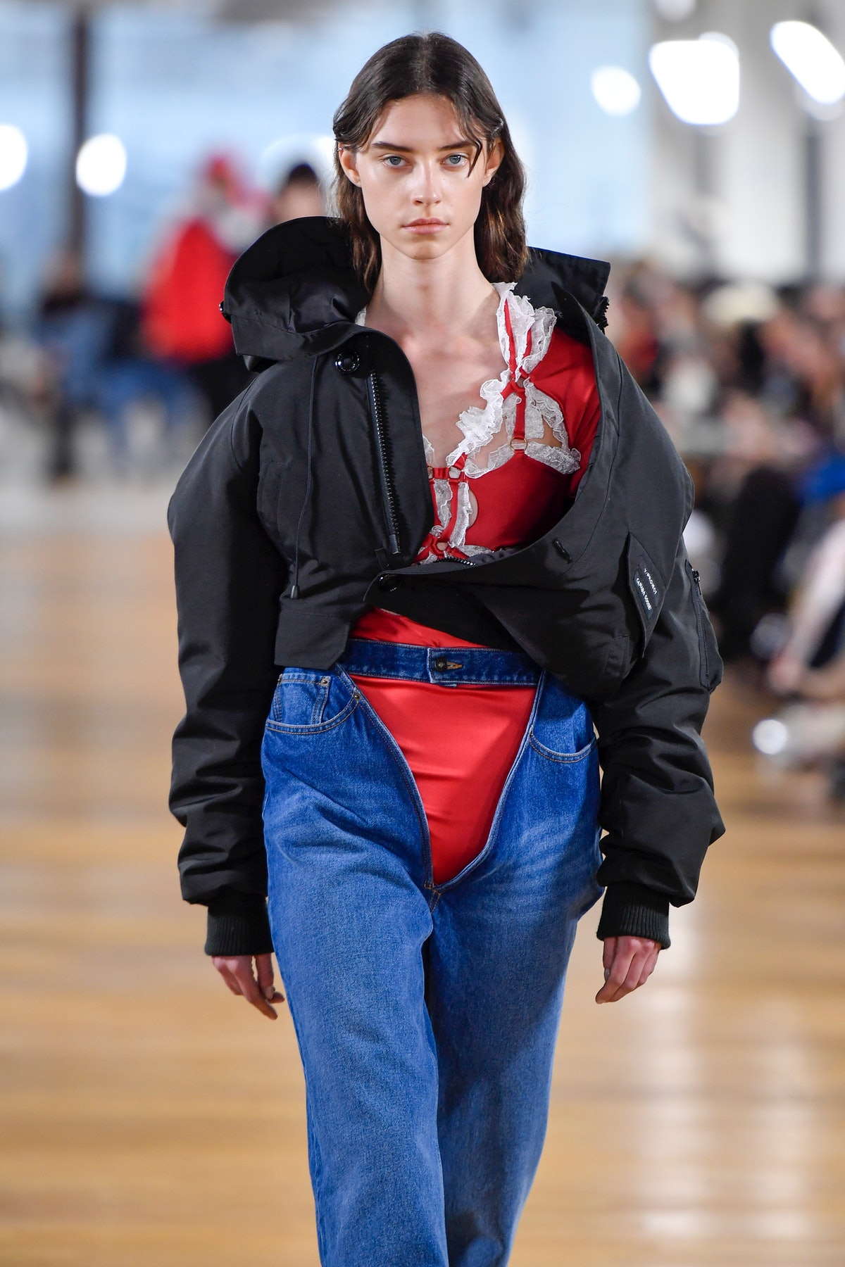 PARIS, FRANCE - MARCH 02 : A model walks the runway during the Y/Project Ready to Wear fashion show as part of the Paris Fashion Week Womenswear Fall/Winter 2020-2021 on March 2, 2020 in Paris, France. (Photo by Victor VIRGILE/Gamma-Rapho via Getty Images)