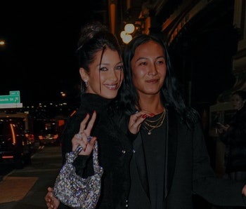 NEW YORK, NEW YORK - NOVEMBER 04: Bella Hadid and Alexander Wang at CFDA event on November 04, 2019 in New York City. (Photo by Gotham/GC Images)
