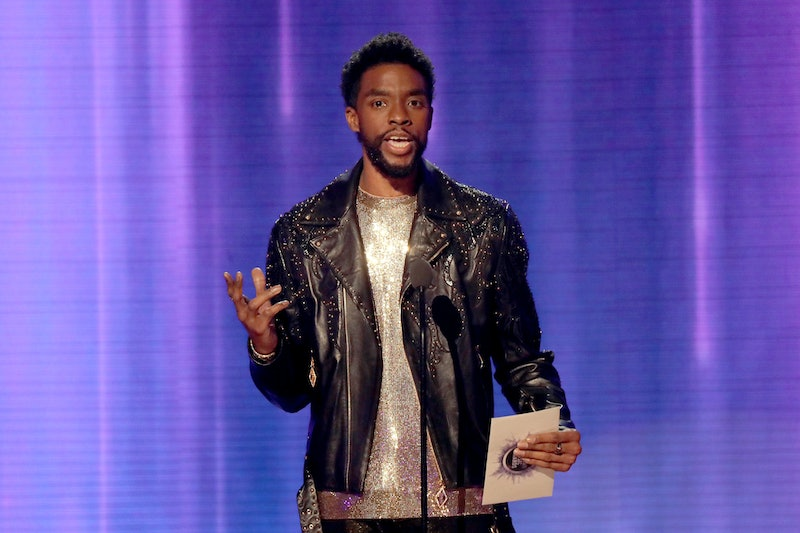 LOS ANGELES, CALIFORNIA - NOVEMBER 24: Chadwick Boseman speaks onstage during the 2019 American Music Awards at Microsoft Theater on November 24, 2019 in Los Angeles, California. (Photo by JC Olivera/Getty Images)