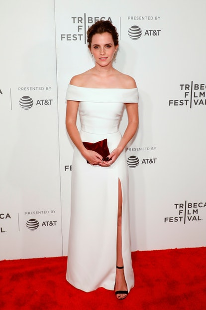 """NEW YORK, NY - APRIL 26:  Emma Watson attends the premiere of """"The Circle"""" during the 2017 Tribeca Film Festival at Borough of Manhattan Community College on April 26, 2017 in New York City.  (Photo by Taylor Hill/Getty Images)"""