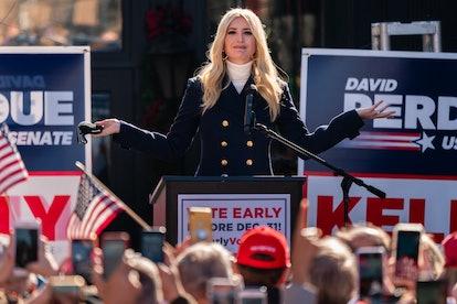 MILTON, GA - DECEMBER 21: Ivanka Trump speaks during a campaign event with Senators Kelly Loeffler a...