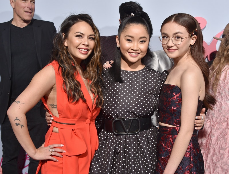 """HOLLYWOOD, CALIFORNIA - FEBRUARY 03:  Janel Parrish, Lana Condor, and Anna Cathcart attend the Premiere Of Netflix's """"To All The Boys: P.S. I Still Love You"""" at the Egyptian Theatre on February 03, 2020 in Hollywood, California. (Photo by Gregg DeGuire/FilmMagic)"""