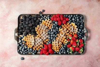 A waffle bar is a great Easter brunch idea.