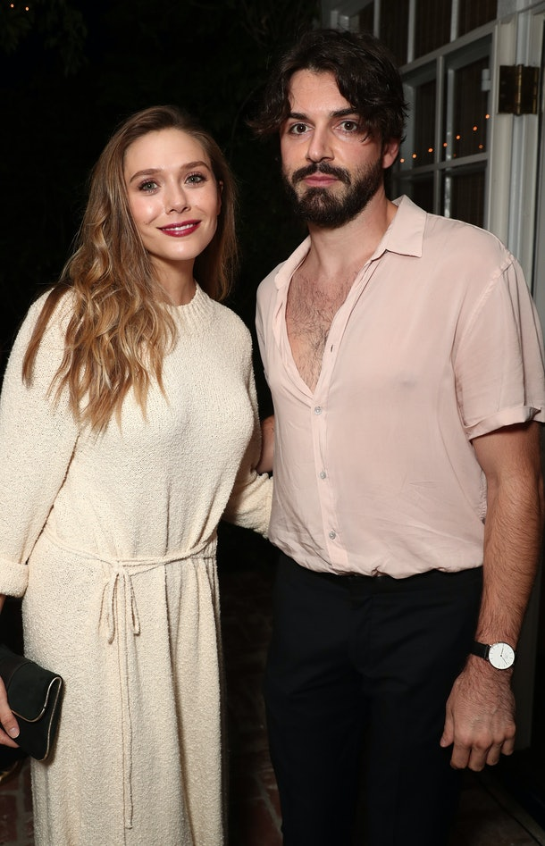 LOS ANGELES, CA - SEPTEMBER 15:  Elizabeth Olsen and Robbie Arnett attend the 2017 Gersh Emmy Party presented by Tequila Don Julio 1942 on on September 15, 2017 in Los Angeles, California.  (Photo by Todd Williamson/Getty Images)
