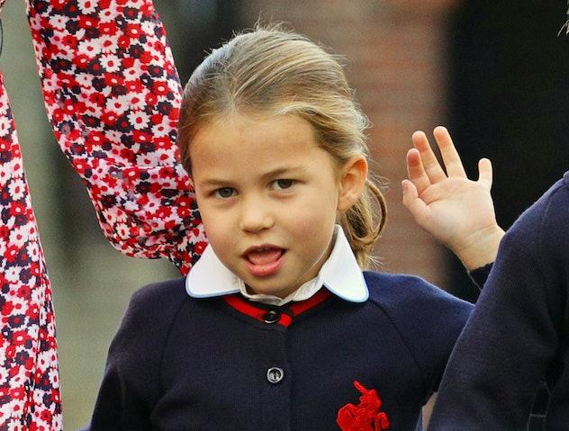 Princess Charlotte starts school, 2019.