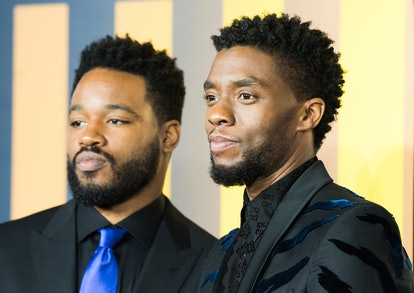 LONDON, ENGLAND - FEBRUARY 08: Ryan Coogler and Chadwick Boseman attends the European Premiere of 'Black Panther' at Eventim Apollo on February 8, 2018 in London, England.  (Photo by Samir Hussein/Samir Hussein/WireImage)