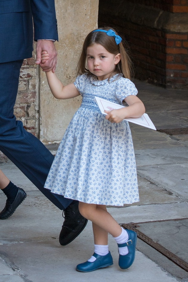 Princess Charlotte at the christening of her brother Prince Louis, 2018.