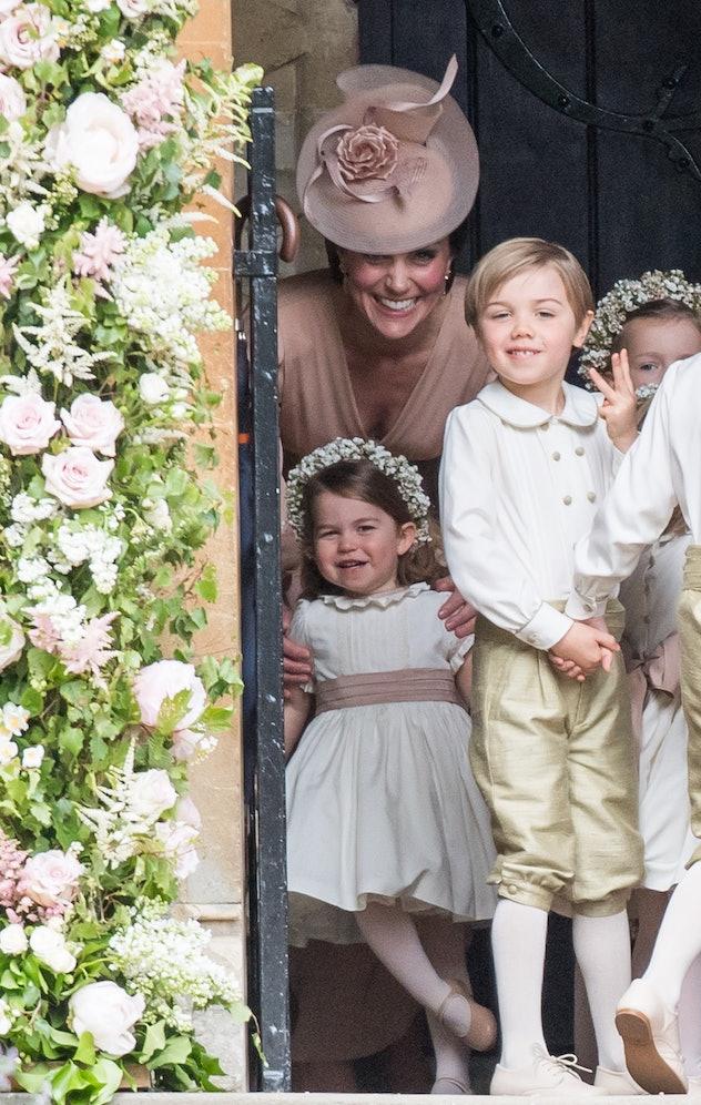Princess Charlotte at Pippa Middleton's wedding, 2017.