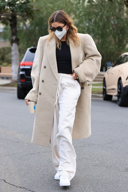 LOS ANGELES, CA - JANUARY 29: Hailey Bieber is seen on January 29, 2021 in Los Angeles, California. (Photo by  Rachpoot/MEGA/GC Images)