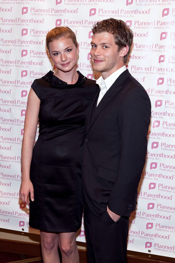 ARLINGTON, VA - MARCH 18: Emily VanCamp and Joseph Morgan attend the Planned Parenthood Federation Of America 2010 Annual Awards Gala at the Hyatt Regency Crystal City on March 18, 2010 in Arlington, Virginia.  (Photo by Paul Morigi/WireImage)