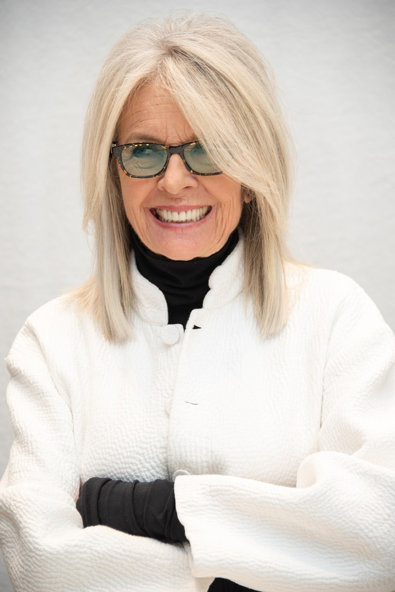 """BEVERLY HILLS, CALIFORNIA - MAY 02: Diane Keaton at the """"Poms"""" Press Conference at the Four Seasons Hotel on May 02, 2019 in Beverly Hills, California. (Photo by Vera Anderson/WireImage)"""