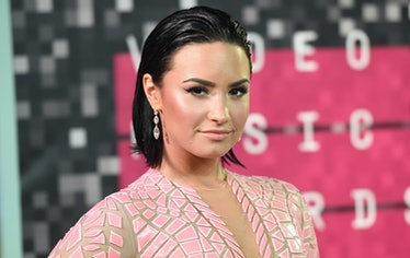 LOS ANGELES, CA - AUGUST 30:  Singer Demi Lovato attends the 2015 MTV Video Music Awards at Microsof...