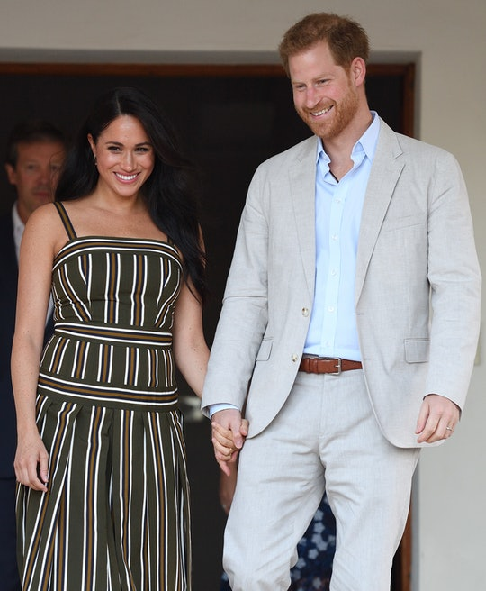 CAPE TOWN, SOUTH AFRICA - SEPTEMBER 24: (UK OUT FOR 28 DAYS) Prince Harry, Duke of Sussex and Meghan, Duchess of Sussex attend a reception for young people, community and civil society leaders at the Residence of the British High Commissioner, during the royal tour of South Africa on September 24, 2019 in Cape Town, South Africa.  (Photo by Pool/Samir Hussein/WireImage)
