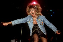 DETROIT - AUGUST 28:  American-Swiss singer and actress, Tina Turner performs at the Joe Louis Arena...