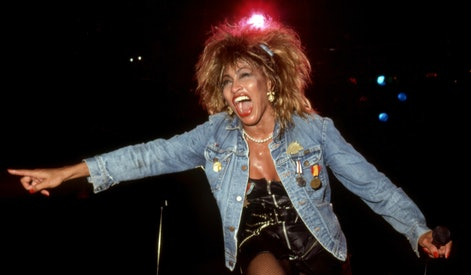 "DETROIT - AUGUST 28:  American-Swiss singer and actress, Tina Turner performs at the Joe Louis Arena during her ""Private Dancer Tour"" on August 18, 1985, in Detroit, Michigan.  (Photo by Ross Marino/Getty Images)"