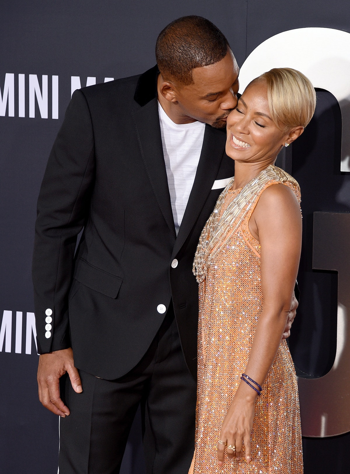 HOLLYWOOD, CA - OCTOBER 06:  Jada Pinkett Smith and Will Smith arrive at Paramount Pictures' Premier...