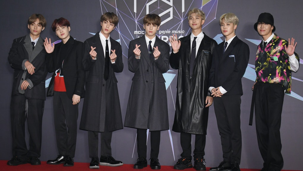 INCHEON, SOUTH KOREA - NOVEMBER 06: BTS attends at the 2018 MBC Plus X Genie Music Awards (MGA) at Namdong Gymnasium on November 06, 2018 in Incheon, South Korea. (Photo by The Chosunilbo JNS/Imazins via Getty Images)