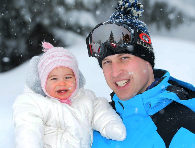 Princess Charlotte on a ski holiday in 2016.