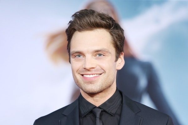 """HOLLYWOOD, CA - MARCH 13:  Sebastian Stan arrives at the Los Angeles premiere of """"Captain America: The Winter Soldier"""" held at the El Capitan Theatre on March 13, 2014 in Hollywood, California.  (Photo by Michael Tran/FilmMagic)"""