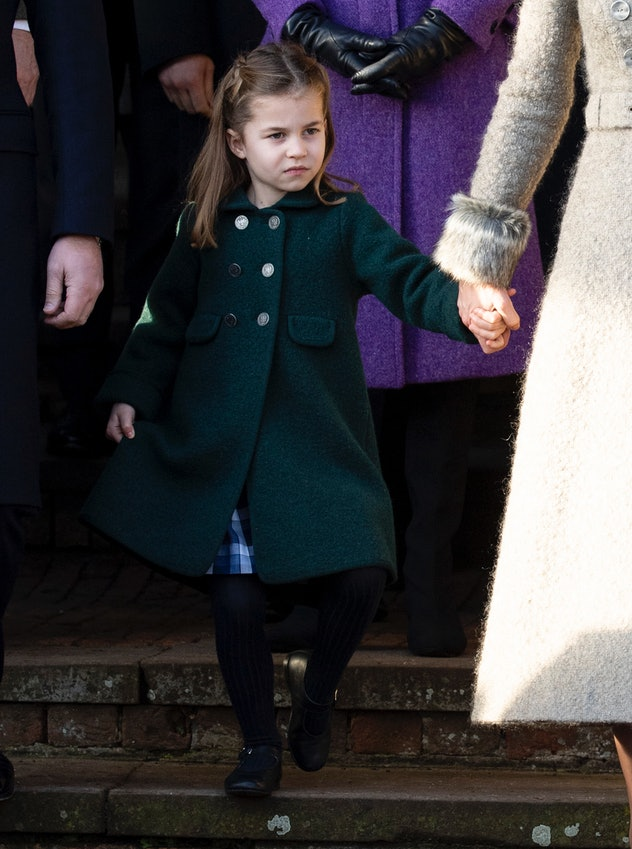 Princess Charlotte curtsies for her great-grandmother, Queen Elizabeth.