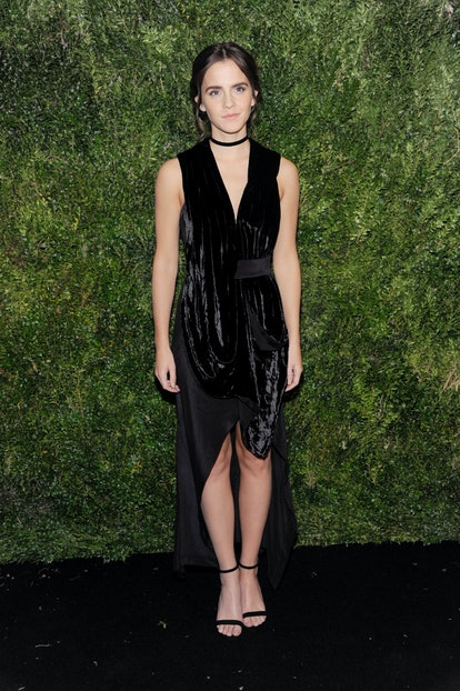 NEW YORK, NY - NOVEMBER 15: Actor Emma Watson attends the 2016 Museum Of Modern Art Film Benefit presented by Chanel - A Tribute To Tom Hanks at Museum of Modern Art on November 15, 2016 in New York City.  (Photo by Rabbani and Solimene Photography/Getty Images)