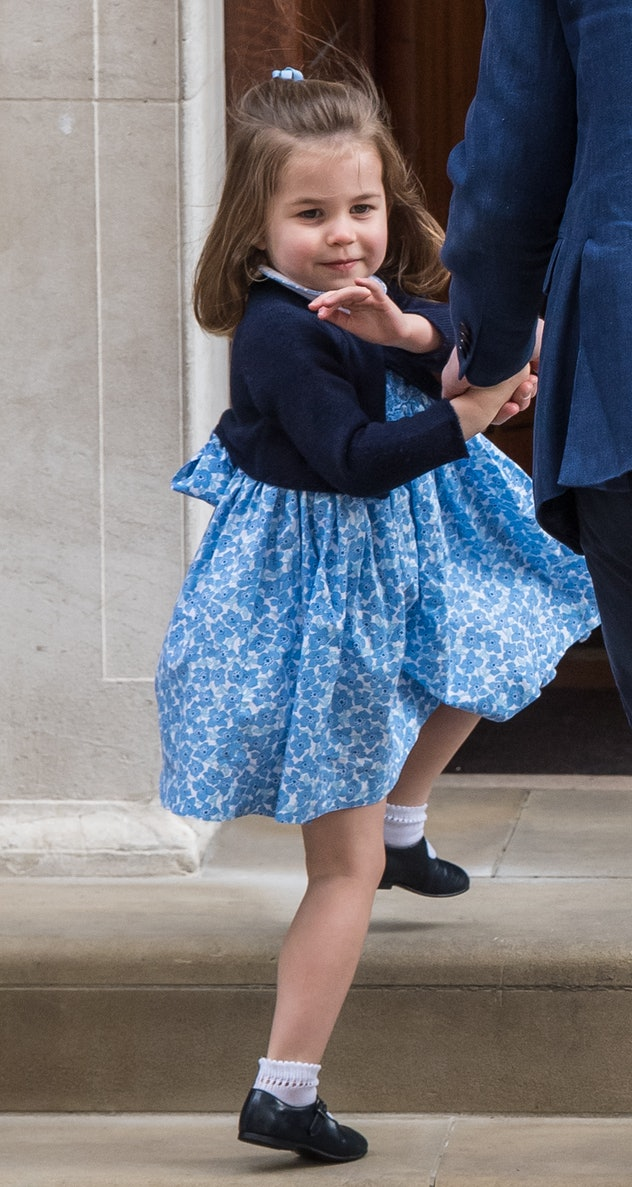 Princess Charlotte visiting the hospital in 2018.