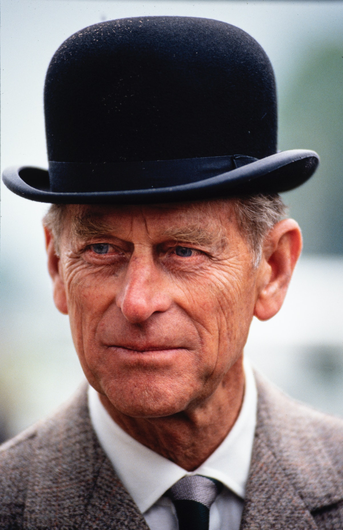 WINDSOR MAY 12: Prince Philip, Duke of Edinburgh, drives a carriage at the Royal Windsor Horse Show,...