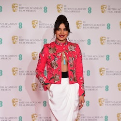 Priyanka Chopra Jonas arrives for the EE BAFTA Film Awards at the Royal Albert Hall in London. Picture date: Sunday April 11, 2021. (Photo by Ian West/PA Images via Getty Images)